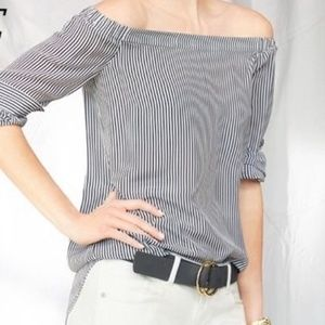 CAbi Tops - CAbi Women's Blouse OTS Brigitte 100% Silk Striped